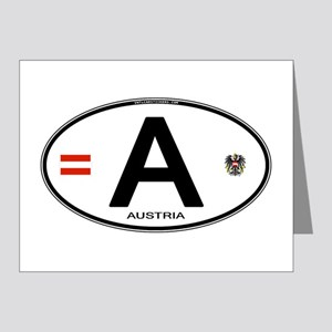 Austria Euro Oval Note Cards (Pk of 20)
