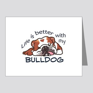 Better With Bulldog Note Cards