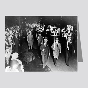We Want Beer! Prohibition Pr Note Cards (Pk of 20)