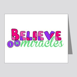 Believe in Miracles Note Cards