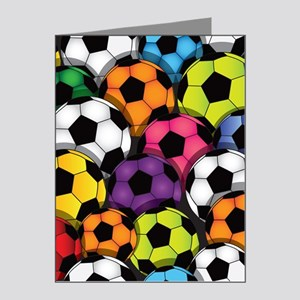 Colorful Soccer Balls Note Cards (Pk of 20)