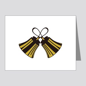 Crossed Handbells Note Cards