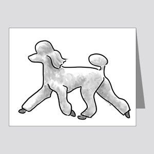 poodle white Note Cards