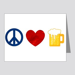 Peace Love Beer Note Cards (Pk of 20)