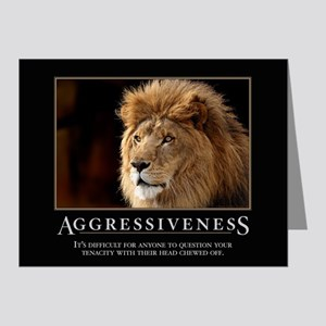 Aggressiveness Note Cards (Pk of 20)