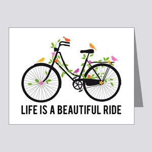 Life is a beautiful ride Note Cards