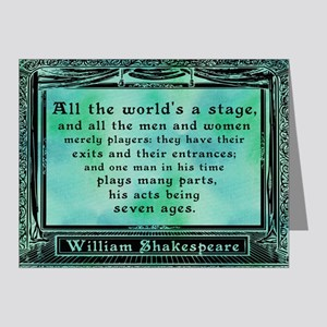 Shakespeare - All the world's a stage p Note Cards