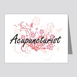 Acupuncturist Artistic Job Design with Note Cards