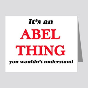 It's an Abel thing, you wouldn' Note Cards
