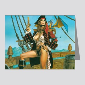 pin-up pirate Note Cards (Pk of 20)