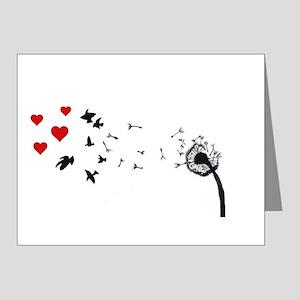 Dandelion Love Note Cards