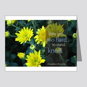 LDS Quotes- If life gets too hard to stand... Note