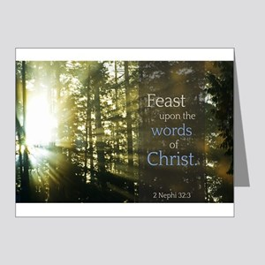 LDS Quotes- Feast upon the words of Christ Note Ca