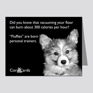Corgi Personal Trainer Note Cards