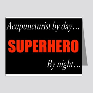 Superhero Acupuncturist Gift Note Cards (Pk of 20)