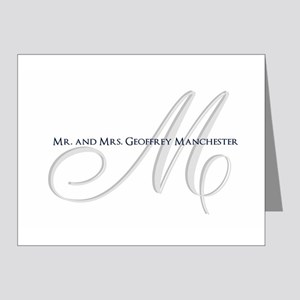 Elegant Name and Monogram Note Cards