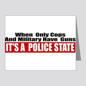Police State Note Cards (Pk of 20)