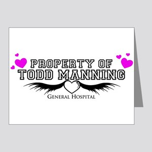 Property Of Todd Note Cards (Pk of 20)
