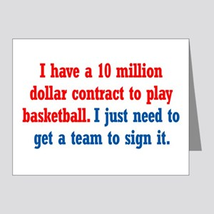 Basketball Contract Note Cards (Pk of 20)