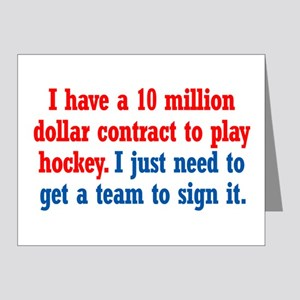 Hockey Contract Note Cards (Pk of 20)