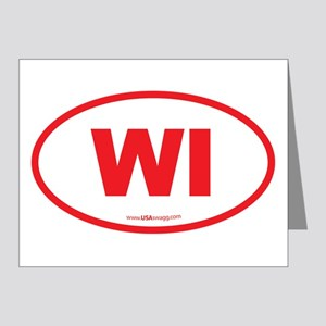 Wisconsin WI Euro Oval Note Cards (Pk of 20)