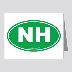 New Hampshire NH Euro Oval Note Cards (Pk of 20)