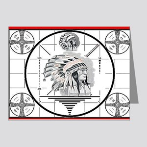 TV Test Pattern Indian Chief Note Cards (Pk of 20)