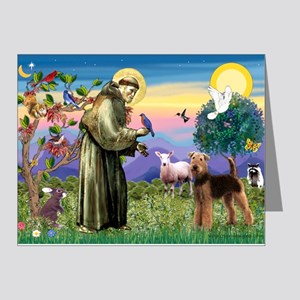 Saint Francis & Airedale Note Cards (Pk of 20)