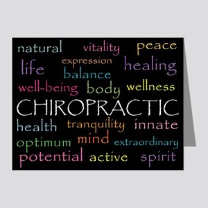Chiropractic Words Note Cards (Pk of 20)