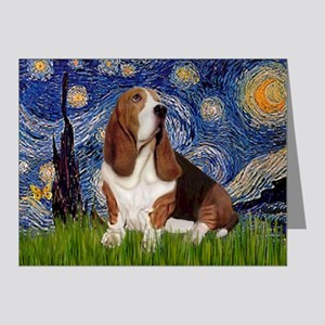 Starry Night & Basset Note Cards (Pk of 20)