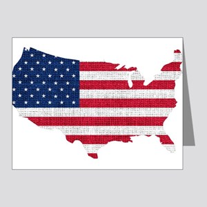 American Flag Map Note Cards