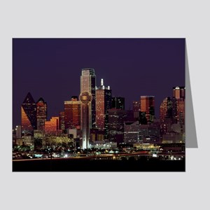 Dallas Skyline at Night Note Cards
