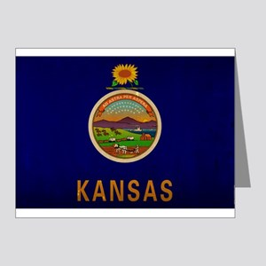 Kansas State Flag VINTAGE Note Cards