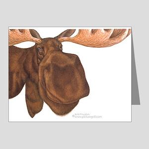 moose head antlers Note Cards (Pk of 20)