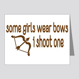 I Shoot Bows Note Cards (Pk of 20)