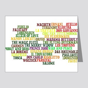 Operas Note Cards (Pk of 20)