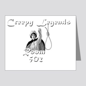 creepy legends rm 502 Note Cards (Pk of 20)