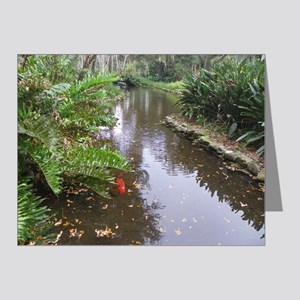 OLD FLORIDA FISH POND Note Cards