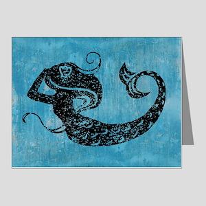 mermaid-worn_12x18 Note Cards (Pk of 20)