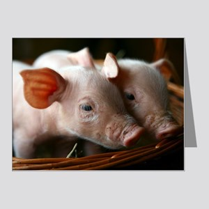 Piglets Note Cards (Pk of 20)