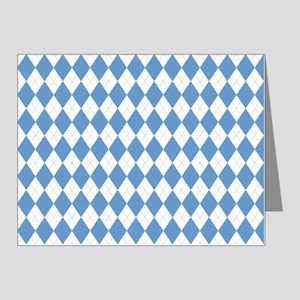Carolina Blue Argyle Sock Pa Note Cards (Pk of 20)