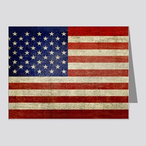 5x3rect_sticker_american_fla Note Cards (Pk of 20)