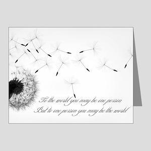 Dandelion Inspiration 2 Note Cards