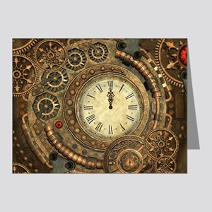 Steampunk, clockwork with gears Note Cards