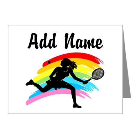 I LOVE TENNIS Note Cards (Pk of 20)