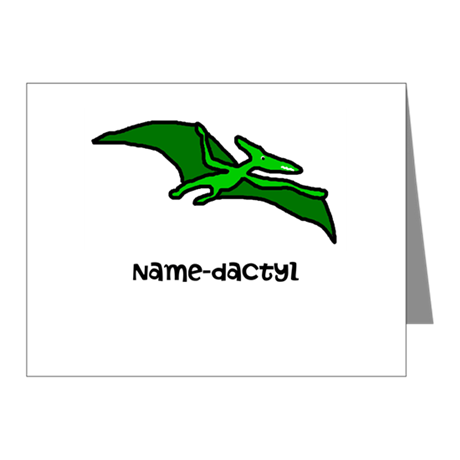 Name your own Pterodactyl! Note Cards (Pk of 20)