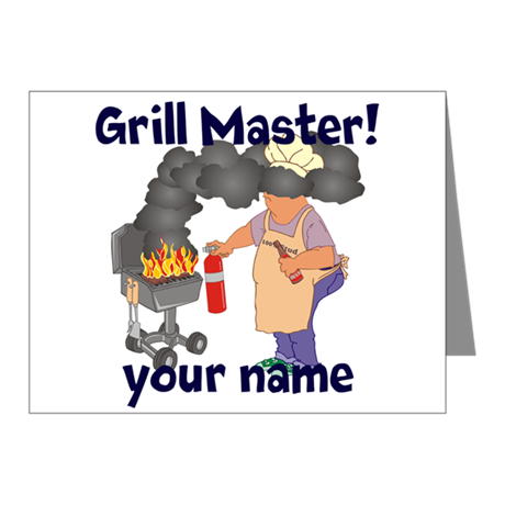 Personalized Grill Master Note Cards (Pk of 20)