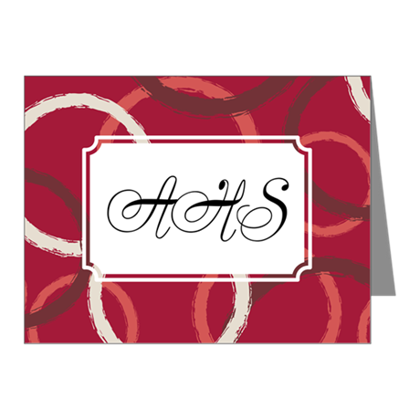 Geometric Circles Red Note Cards (Pk of 20)