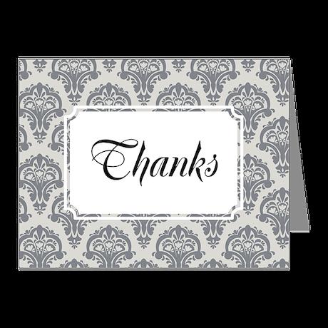Flourish Soft CLassic Grey Note Cards (Pk of 20)