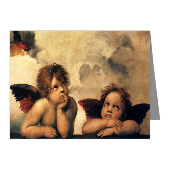 Sistine Madonna Angels by Raphael